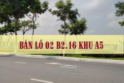 Bán lô 02 B2.16 khu A6 đẹp, giá tốt - Golden Hills | Liên Chiểu Tây Bắc Đà Nẵng