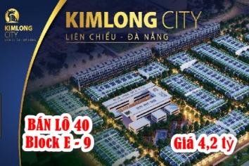 Bán lô 40 E-9 đường thông Nguyễn Sinh Sắc   khu E Kim Long City   Liên Chiểu Tây Bắc Đà Nẵng